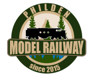 Philden Model Railway badge 336 x 280