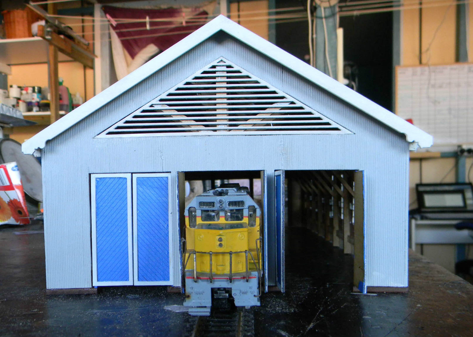 3 bay loco shed based on the old tenterfield shed ho scale for 3 bay shed