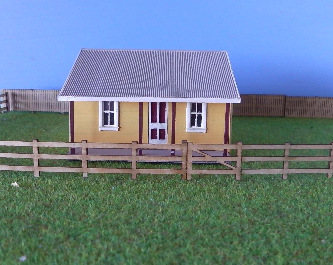 J1 Gate Keepers House Kit Concrete Finish Ho Scale