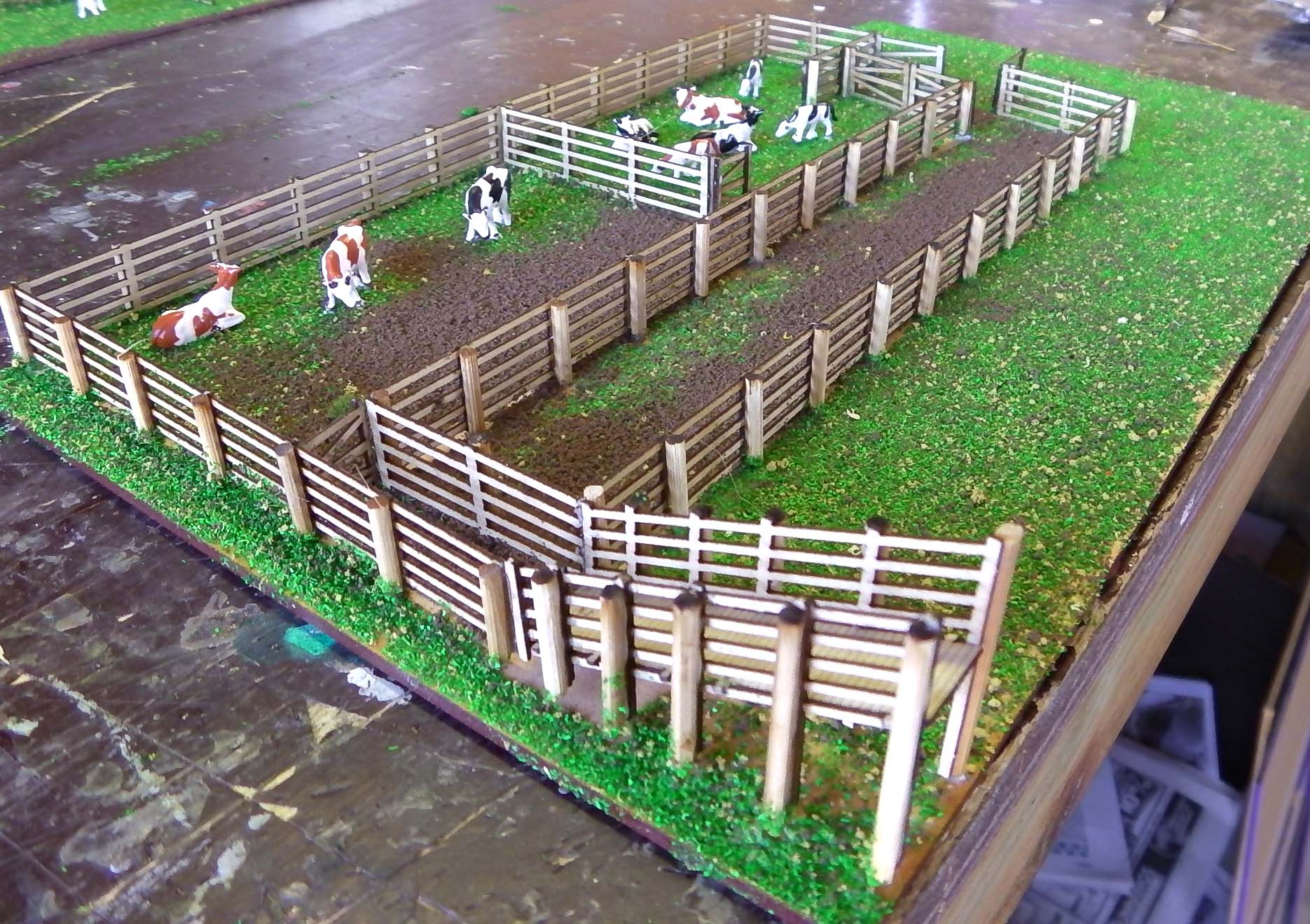 Cattle Yard Model Train Buildings