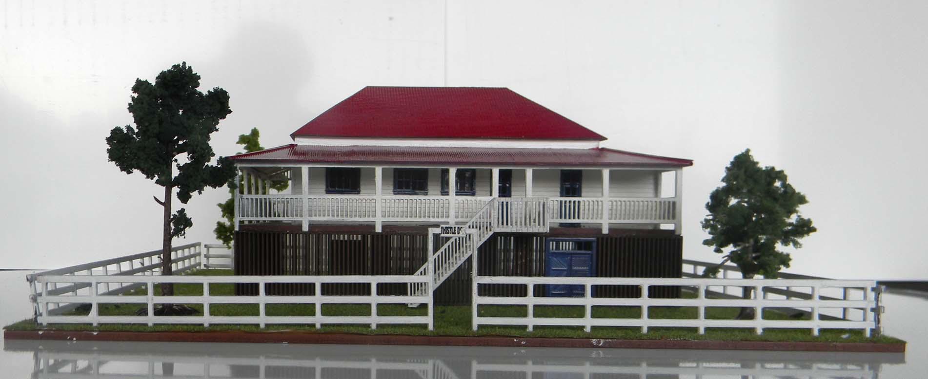 Queenslander style farm house high set model train buildings for Architecture models for sale