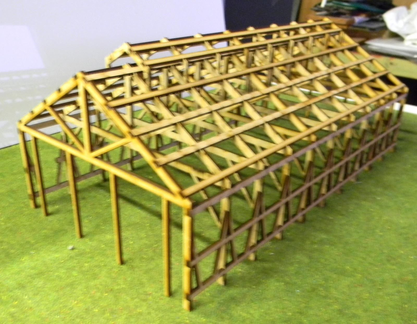 3 bay loco shed nswgr frame work only ho scale model for 3 bay shed