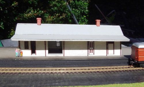 Nswgr A 4 Country Train Station 238x76x85mm Laser Cut Wood