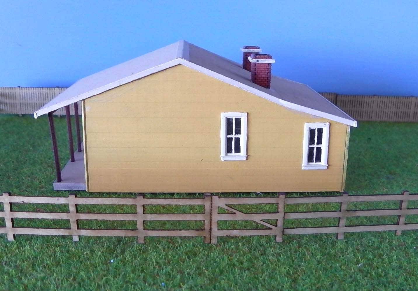 J1 gate keepers house kit concrete finish ho scale for Concrete home kits