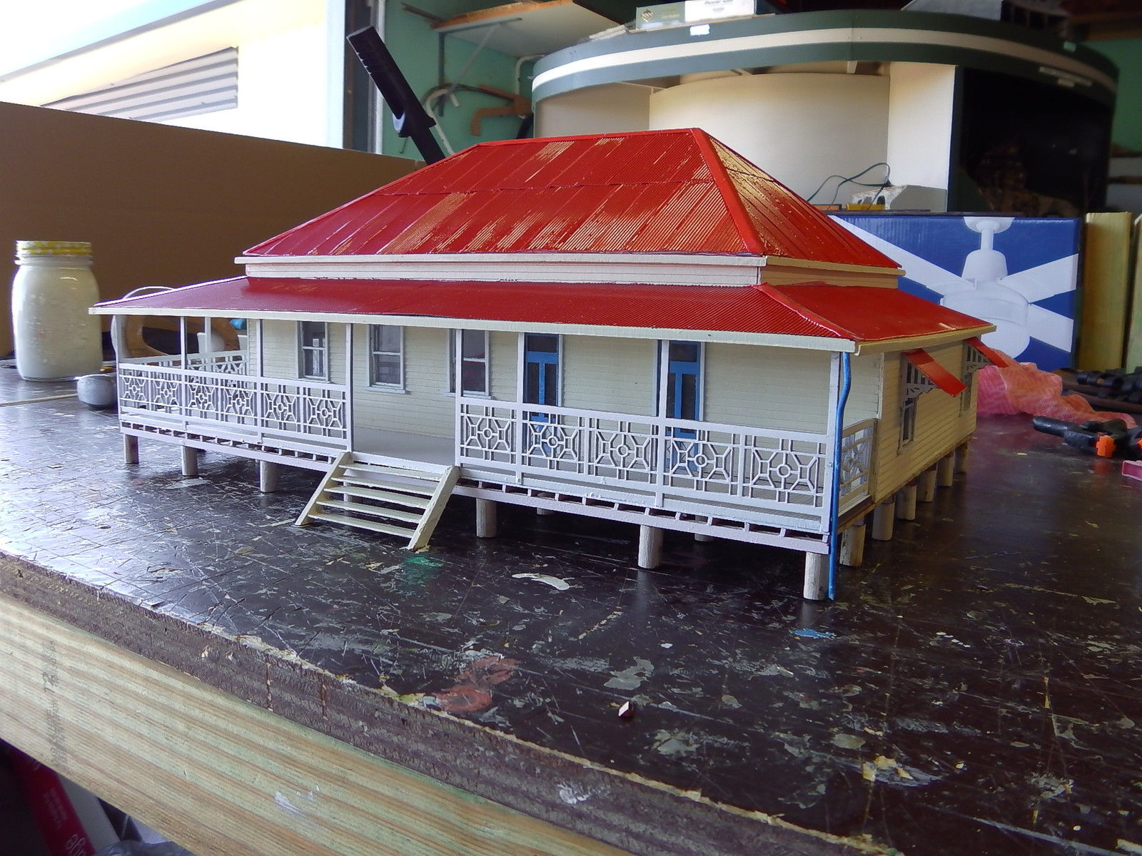 Accessories O Gauge Buildings : O scale country homestead also suit diorama for model