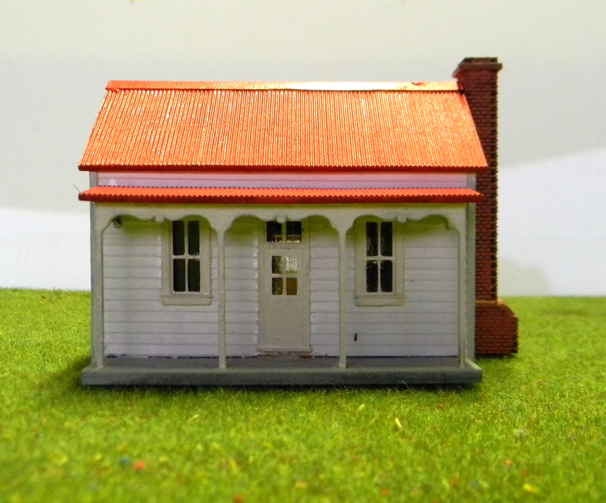 Victorian miners cottage ho scale model train buildings Victorian cottages kit homes