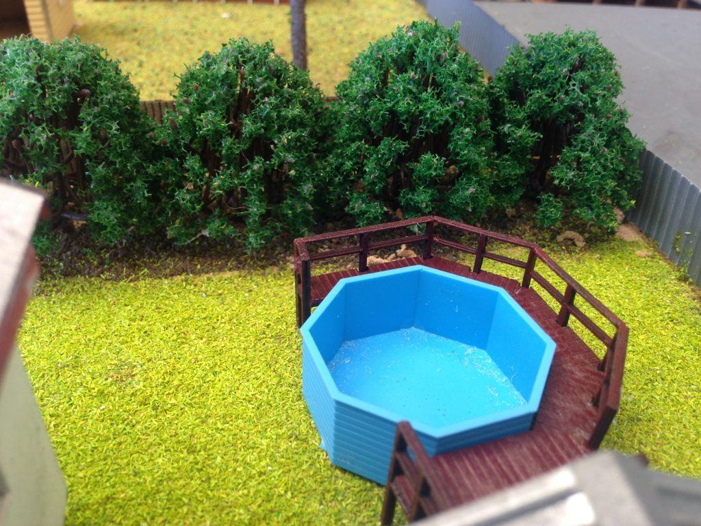 Ho 1 87 Scale Small Above Ground Pool With Decking Cast