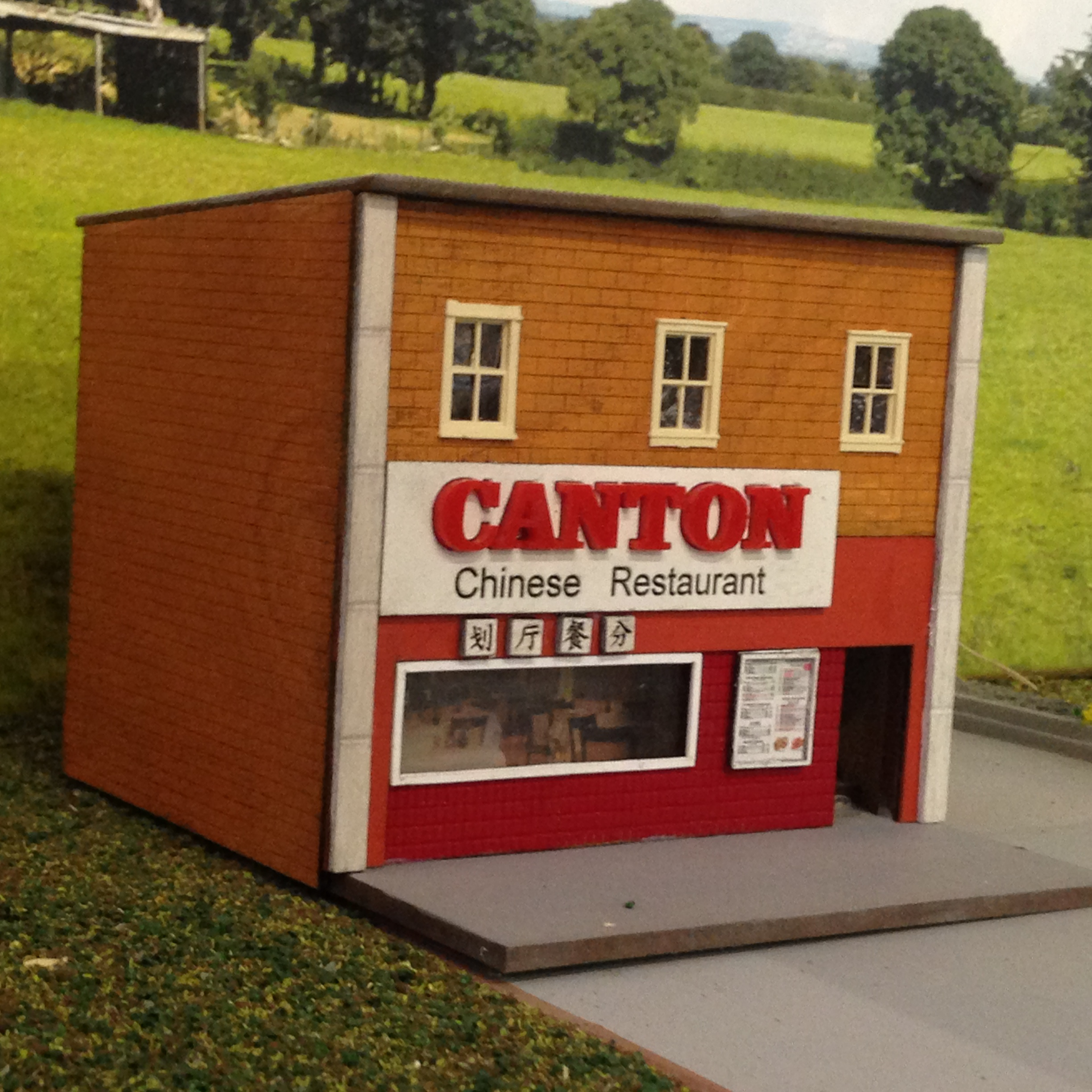 Ho 1 87 scale 39 canton 39 chinese restaurant building kit - Printable ho scale building interiors ...
