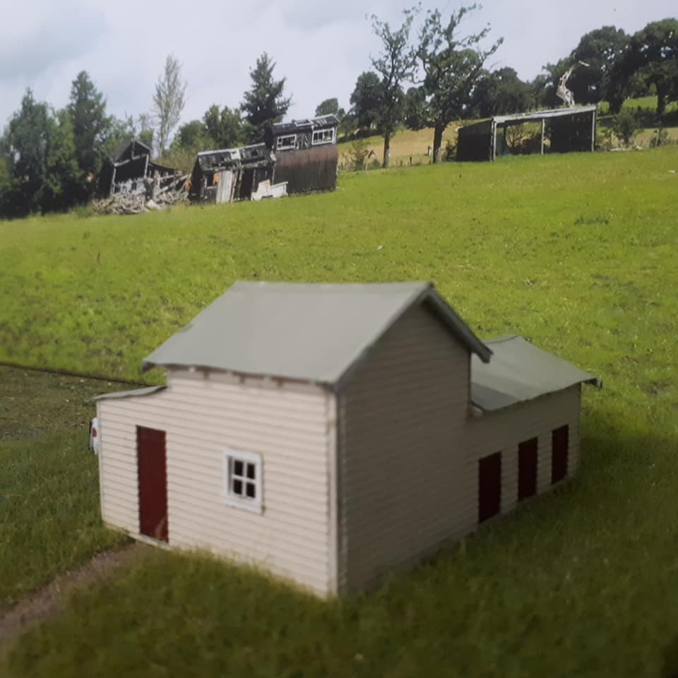 Milking Shed With 3 Stalls Nsw Ho Scale 1 87 Model Train